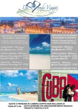 Capodanno a Cuba con  Havana + Soggiorno mare. Partenza voli da Firenze ,Milano, Roma e Bologna