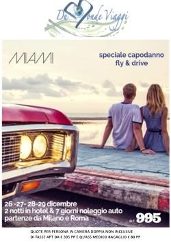 Capodanno a Mialmi con  2 notti in hotel 7 giorni noleggio auto. Voli da Roma e Milano