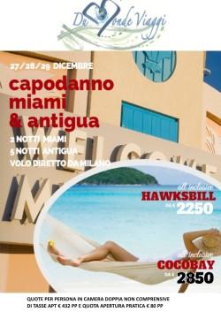 Capodanno a Miami e Antigua con volo diretto da Milano
