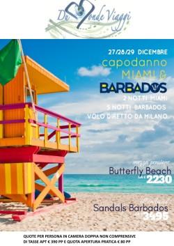 Capodanno a Miami e Barbados con volo diretto da Milano