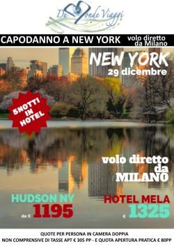 Capodanno a New York - 5 notti - volo diretto da Milano - partenza 29 Dicembre