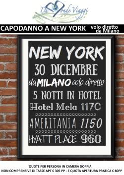 Capodanno a New York - 5 notti - volo diretto da Milano - partenza 30 Dicembre
