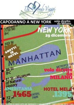 Capodanno a New York - 6 notti - volo diretto da Milano