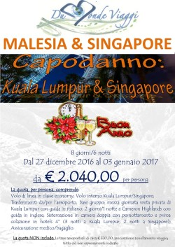Capodanno in MALESIA e SINGAPORE