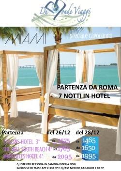 Capodonno a Miami con volo da Roma