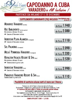 Cuba a Capodanno da Milano