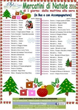 Mercatini di Natale di 1 giorno 2016