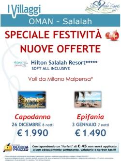 OMAN Capodanno ed Epifania all' Atlantis Club Hilton Salalah da € 1.490
